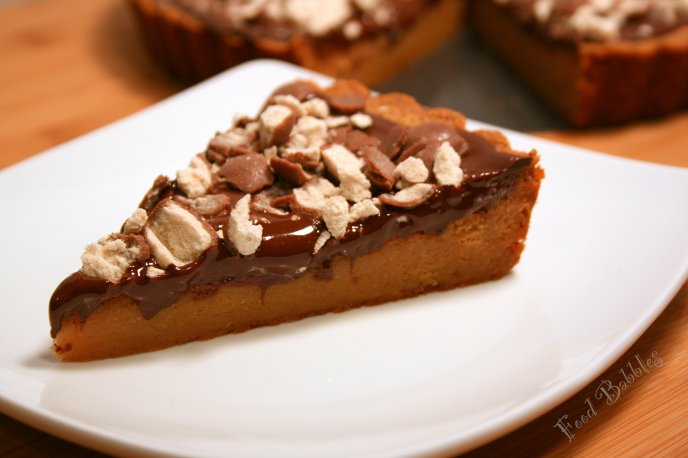 Delicious piece of cake - nuts and chocolate