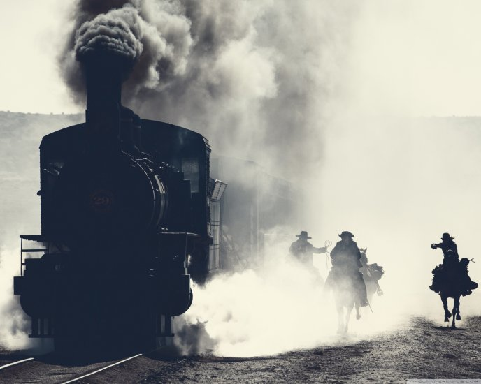 An old steam locomotive - The lone ranger