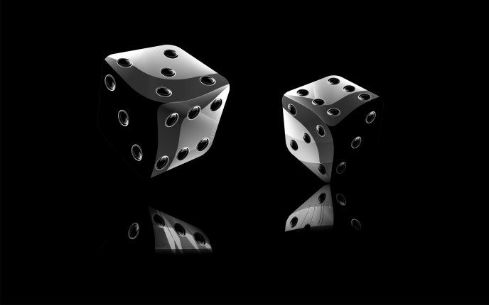 Black 3D dice - HD wallpaper