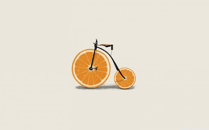 Bicycle technology - use oranges