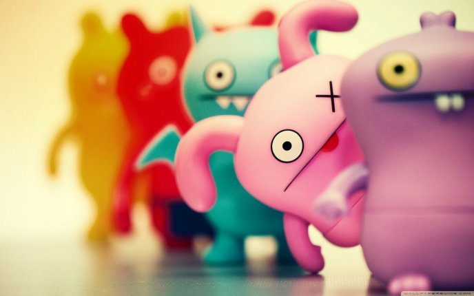 Funny mascots - toys for kids