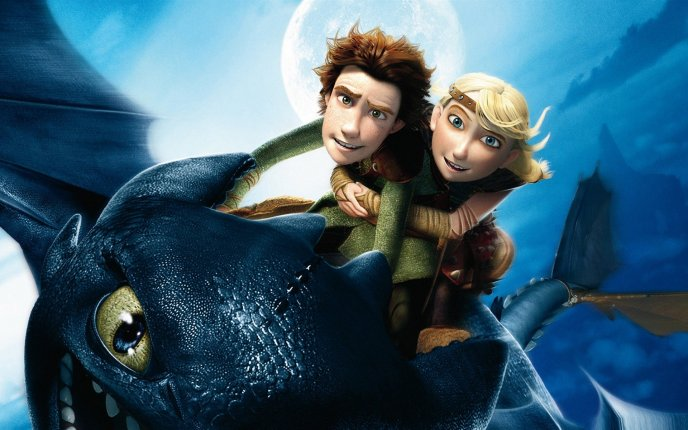 How to train your dragon - beautiful animation movie