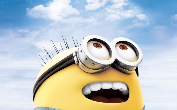 Little minion with big eyes - Despicable me