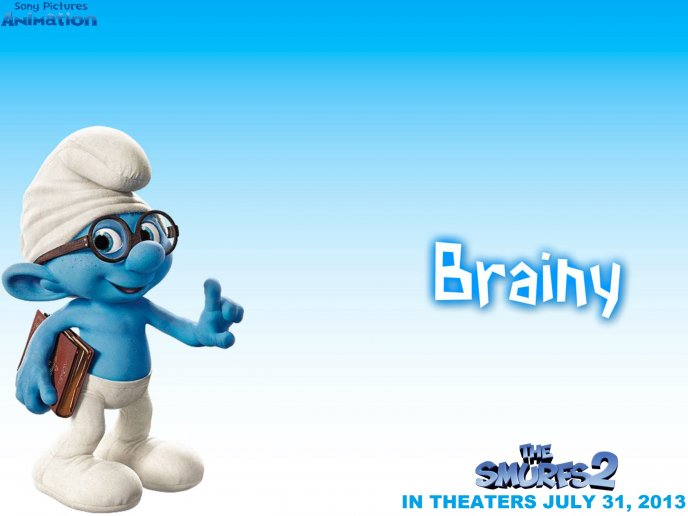 Brainy smurf - the smurf with the book