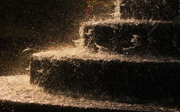 A storm water splash on the stairs - digital art wallpaper