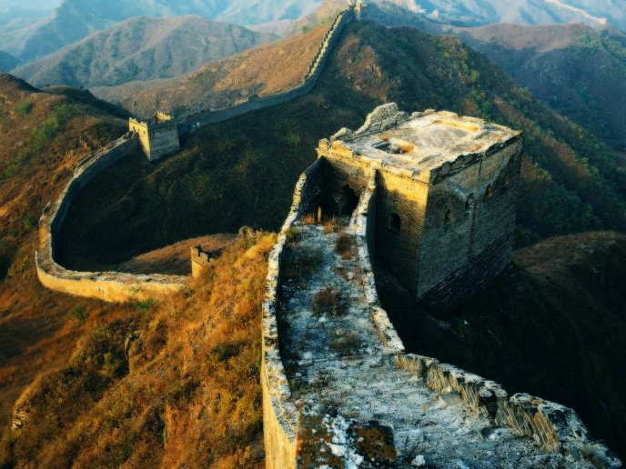 The monument of China - Great wall in the world