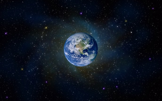 Famous planet on the space - our beautiful Earth