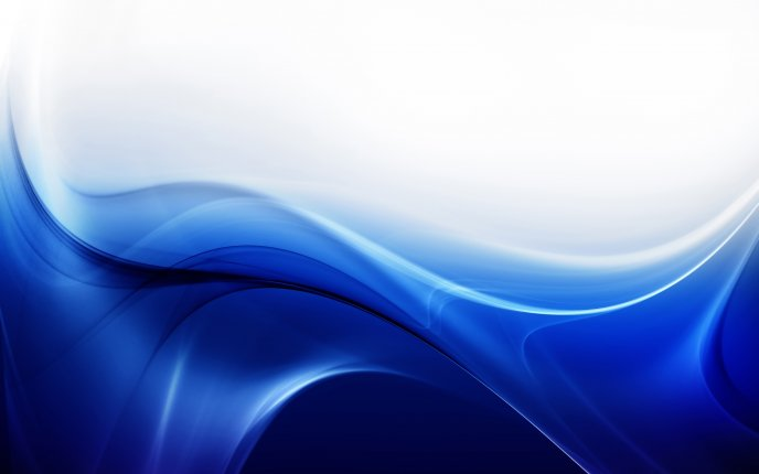 Abstract blue river - HD wallpaper