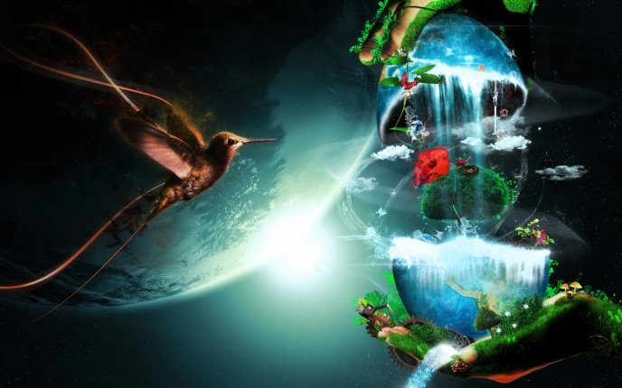 Abstract story world - beautiful digital art nature