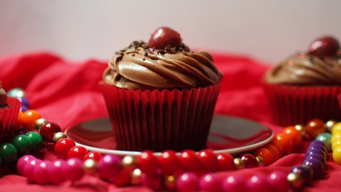 Delicious surprise every morning - Sweet chocolate muffin