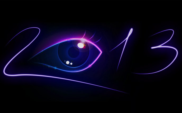 Beautiful eye - magic year 2013