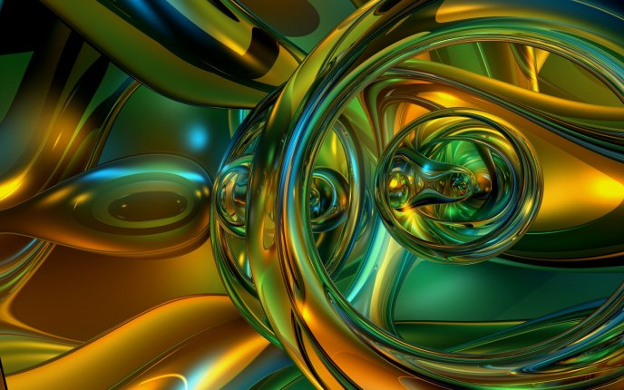 Abstract HD wallpaper - shapes of colour glass