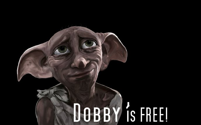 Funny character from Harry Potter - little Dobby