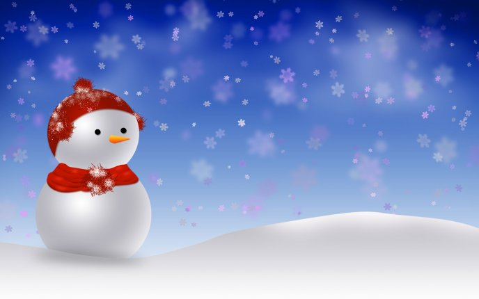 Cute little snowman - winter time