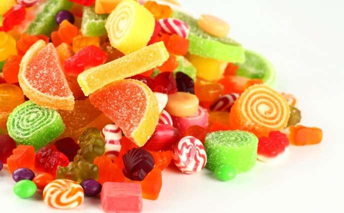 Lots of candies and jellies - sweet colour moments