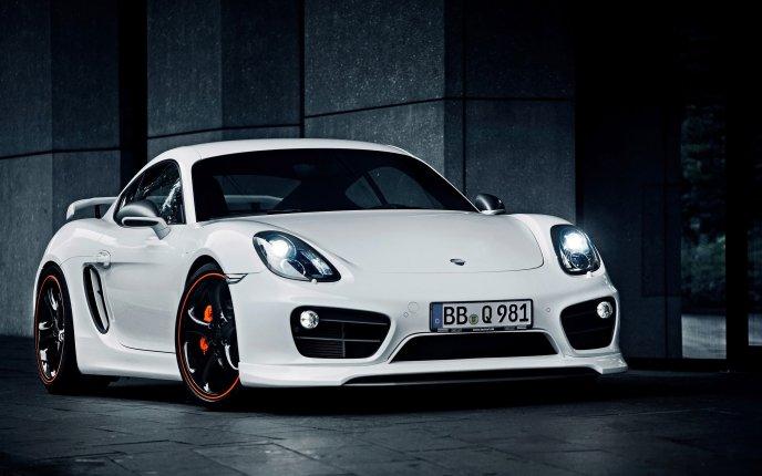Download Wallpaper Wonderful White Porsche Car   New HD Design. «