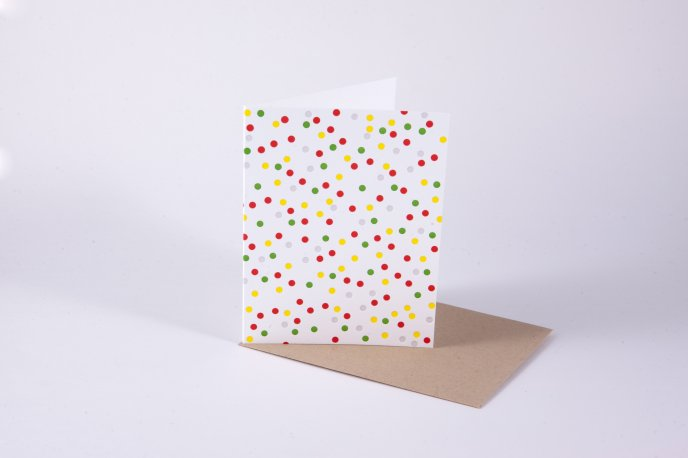Cards full with colour dots - HD wallpaper