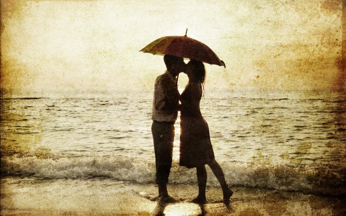 Love at the seaside - magic moments