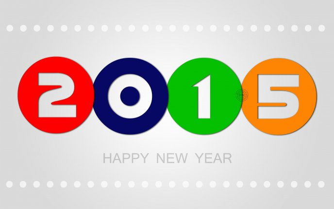 Colourful 2015 - Happy New Year 2015