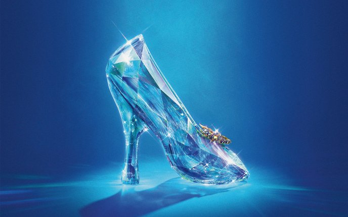 Crystal shoe for the New Cinderella of 2015