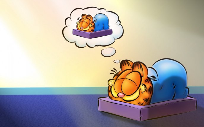 Sweet dreams Garfield - HD animation wallpaper