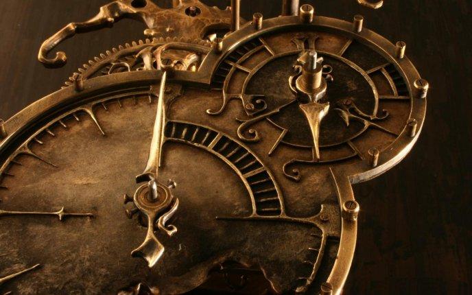 Download Wallpaper Vintage Clock
