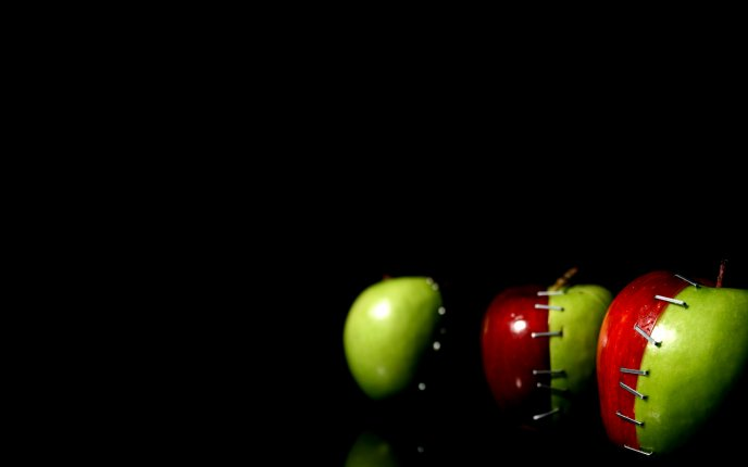 Artistic apples design - red and green - HD wallpaper