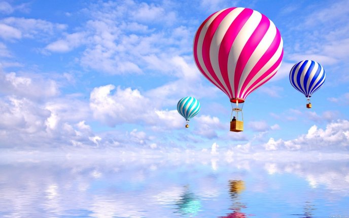 Delicious hot air balloons like candy - HD mirror wallpaper