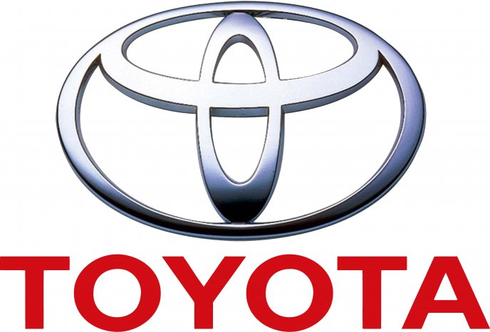 Toyota logo on white background