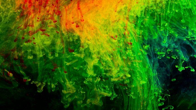 Abstract color mix painting - HD wallpaper
