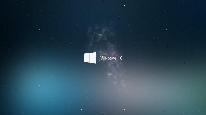 Windows 10 Logo In Space Through The Stars
