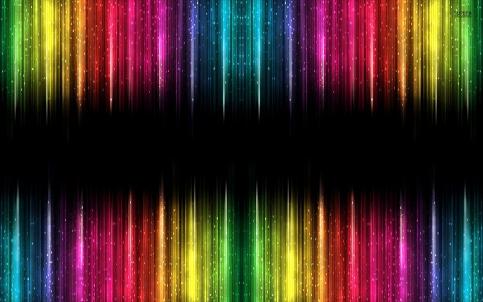 Download Wallpaper Colorful Lights And A Black Band