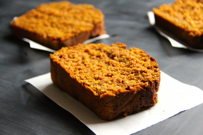 Delicious slices of Pumpkin Coffee Bread - HD wallpaper