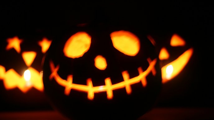 Download Wallpaper The Dead Pumpkin   Funny Halloween. «