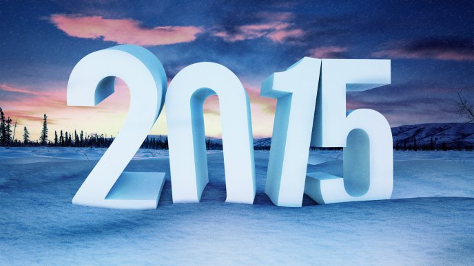 Big 2015 in the snow - HD wallpaper