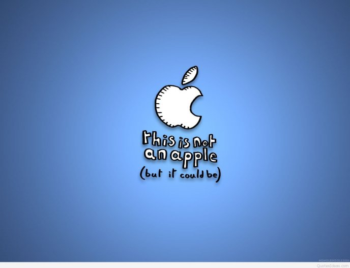 Funny apple message - HD wallpaper