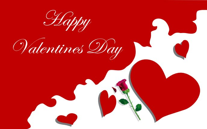 Happy Valentine's Day 2016 - red hearts and roses