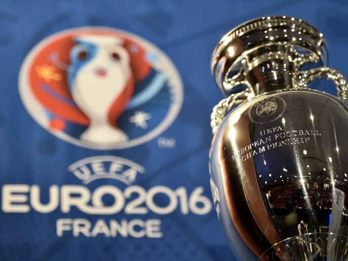 The golden trophy for European Football Championship France
