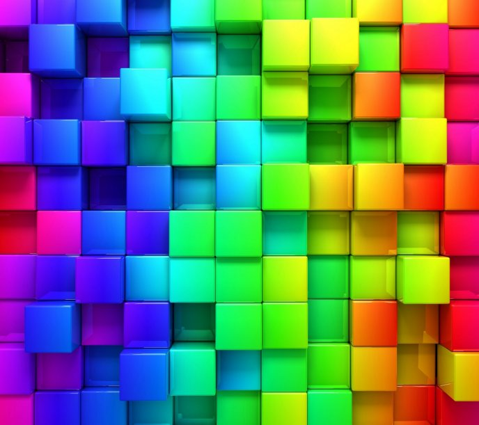Funny and abstract color wall - Tetris game