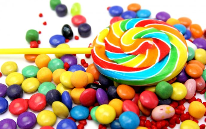 Delicious candies for all children - HD sweet wallpaper
