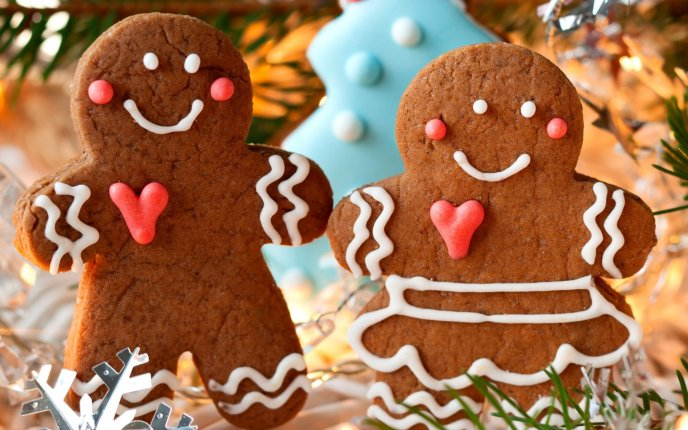 Two lovely ginger biscuits - Magic of Christmas Holiday