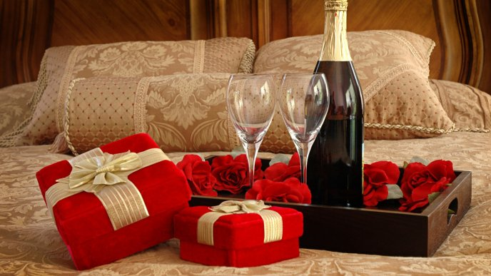 Romantic dinner on 14 February - Happy Valentines Day