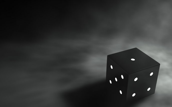 Dark dice on a grey background - HD wallpaper