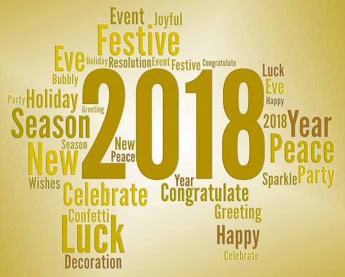 All the best in 2018 - Happy New Year