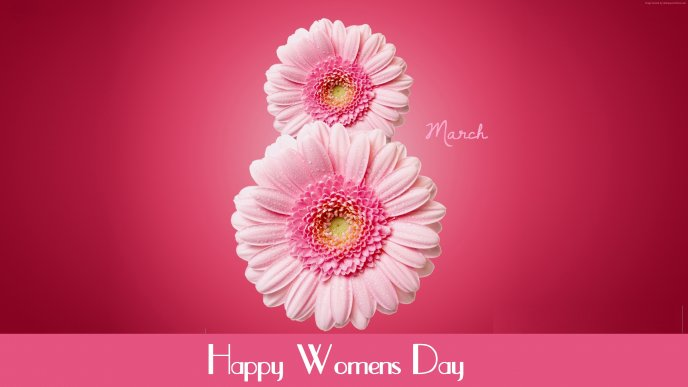 Happy International Woman day - Pink March month