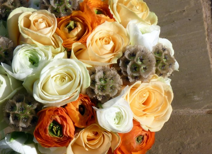 Beautiful roses in a bouquet for a special person -Woman Day