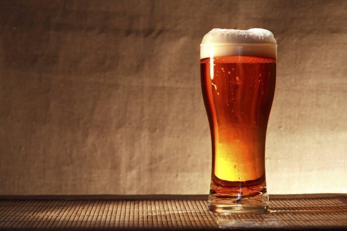 Perfect glass of beer in the summer season - Drink beer
