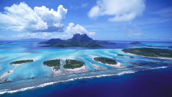Wonderful islands in the ocean - Holiday summer day