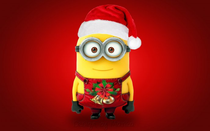 Merry Christmas from a little Minion - HD wallpaper