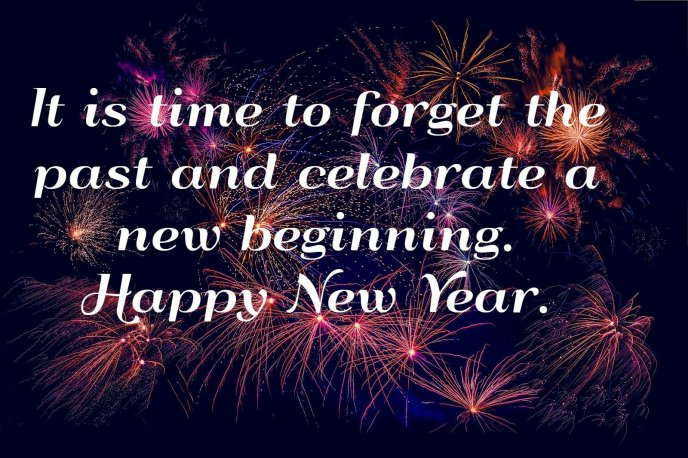 Forget the past Celebrate de new beginning - Happy New Year